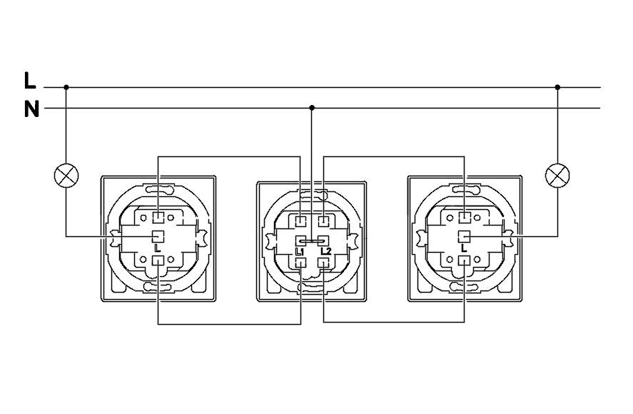 Two-way switch, double