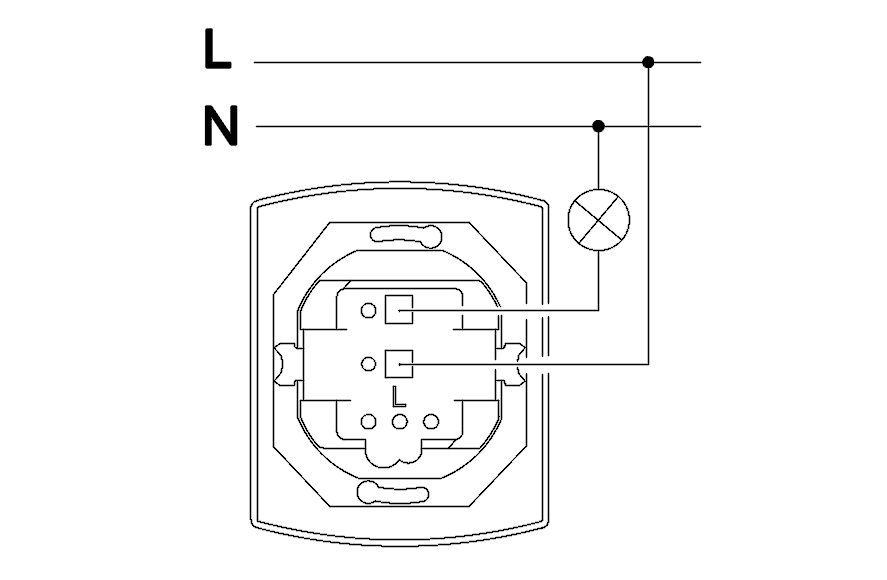 Push-button switch for bell