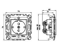Socket-outlet, with plastic base