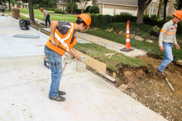 Concrete Paving Crew in Dallas