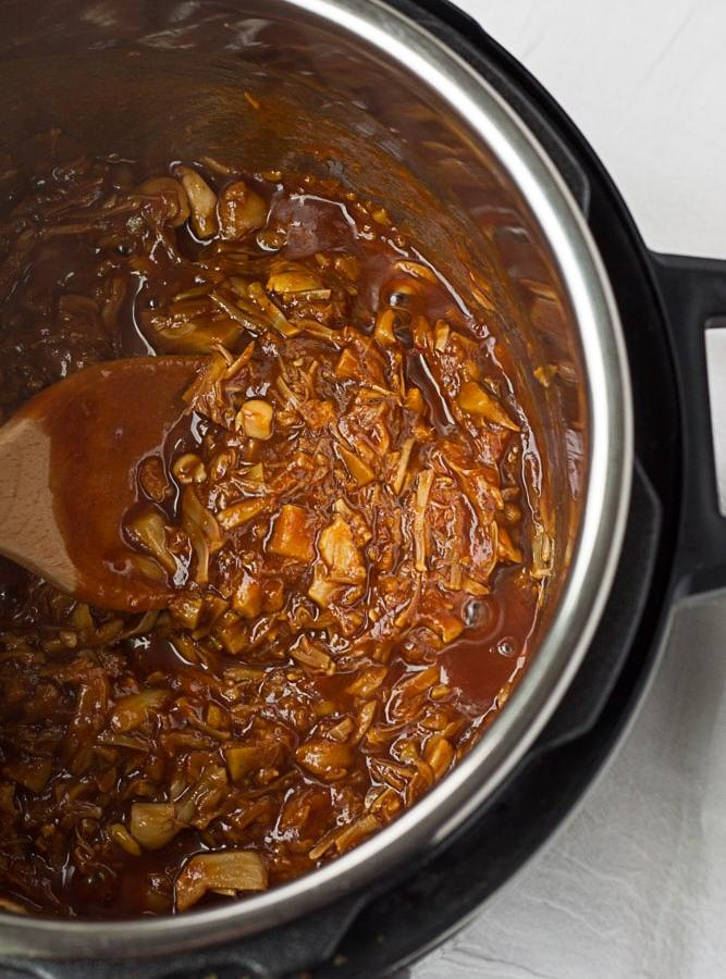 Instant Pot Pulled BBQ Jackfruit
