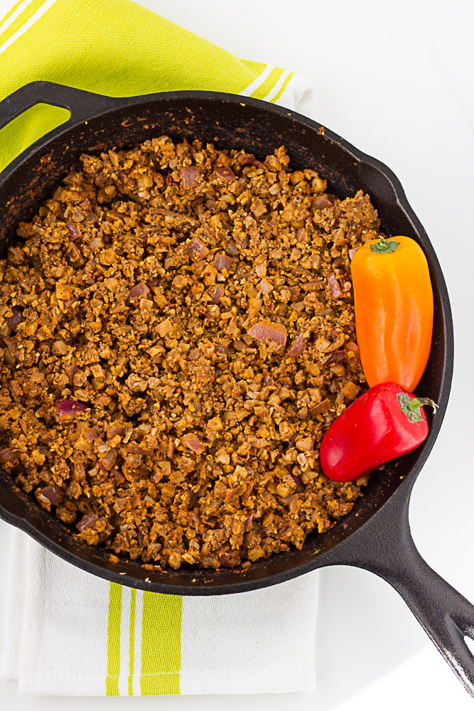 healthy dinner recipes - vegan taco meat