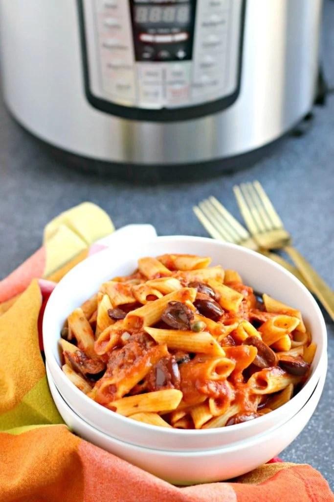 instant pot pasta puttanesca