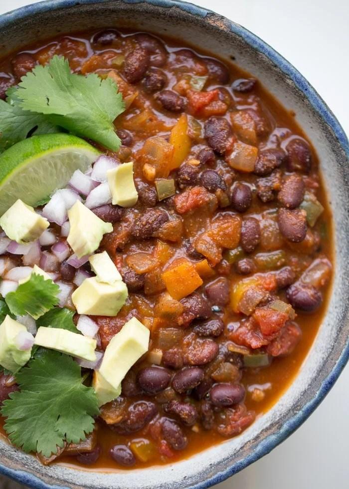 instant pot chili close up