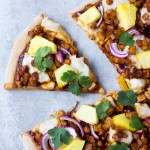 Hawaiian BBQ Vegan Pizza
