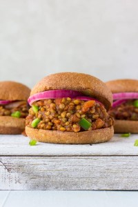 vegan sloppy joe on a board