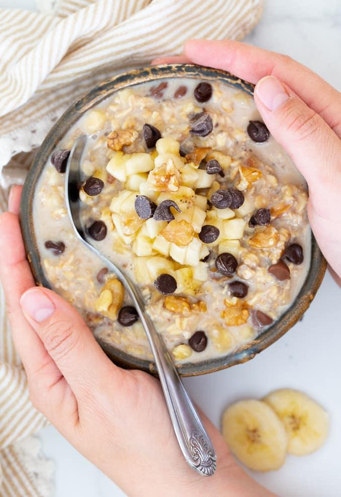 vegan kids recipes round up-chunky monkey oats