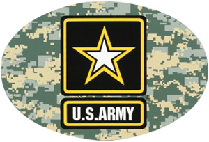 Army Star Logo Digital Camo Oval Auto Magnet  North Bay