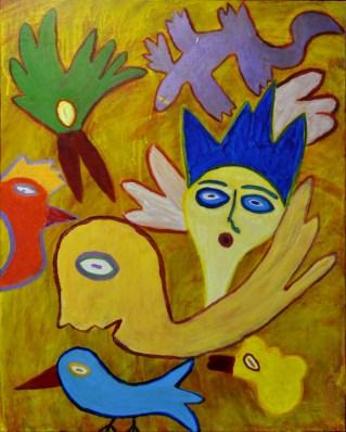 310 De verloving, 2001, 100 x 80, acryl