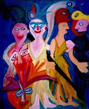 101 Na het Gevecht, 1997, 100 x 120, olie