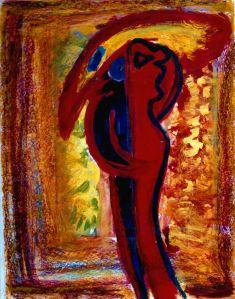 126 De gele Vogel, 1997, 83 x 63, gemengd, 400,-