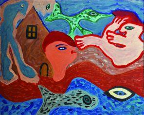 3 De Geboorte, 1993 80 x 100 olie, n.t.k.