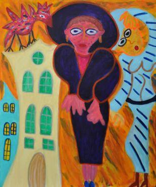 422 Roze Vogel, 2011 120 x 100 acryl