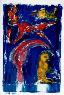 91 In de Lucht, 1997, 68 x 83, gemengd, 400,-