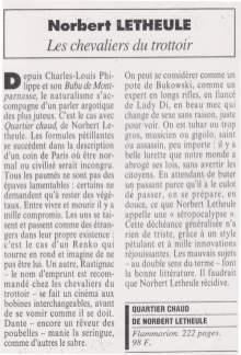 Letheule, Le Figaro, Alain Bosquet -1995