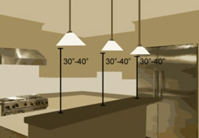 Height To Hang Kitchen Island Pendants