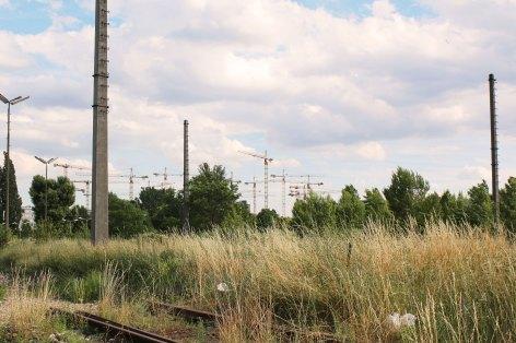 Nordbahnhalle Aussenansicht Baukräne