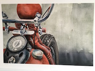 6 John Eyre - Motorcykel - Litografi