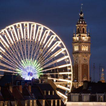 Riesenrad auf dem Weihnachtsmarkt in Lille, © CRTC des Hauts-de-France