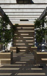 Terrasse in der 2. Etage, © Colombe Clier CMN