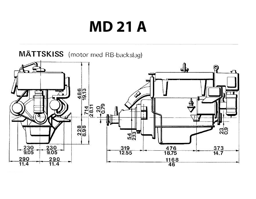 Motorbyte – Volvo Penta MD21A