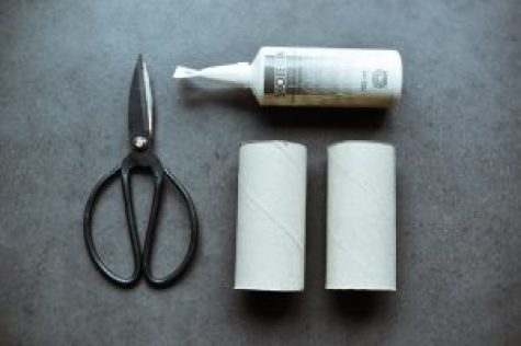 DIY christmas star decoration zero waste ornament from toilet paper rolls step 1