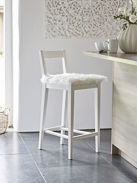 White Bar Stool  Scandi Breakfast Stool  Wooden Kitchen