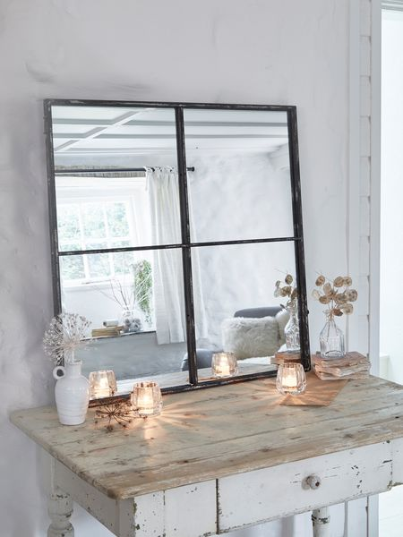 Loft Style Window Mirror  Industrial Mirror  4 Panel Mirror