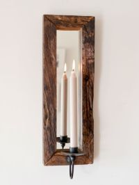 Rustic Wall Candle Holder