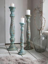 Large Floor Candle Holders - Azure - Nordic House
