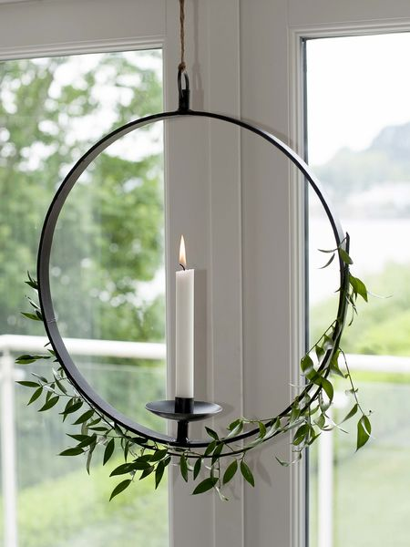 Hanging Wrought Iron Candle Holder  Nordic House