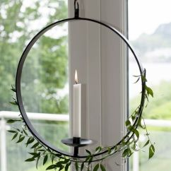 Kitchen Wall Lights Vintage Tables Hanging Wrought Iron Candle Holder - Nordic House