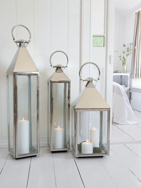 Big Stainless Steel Lanterns  Large Indoor Candle Lanterns