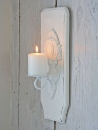 Distressed Wooden Wall Sconce