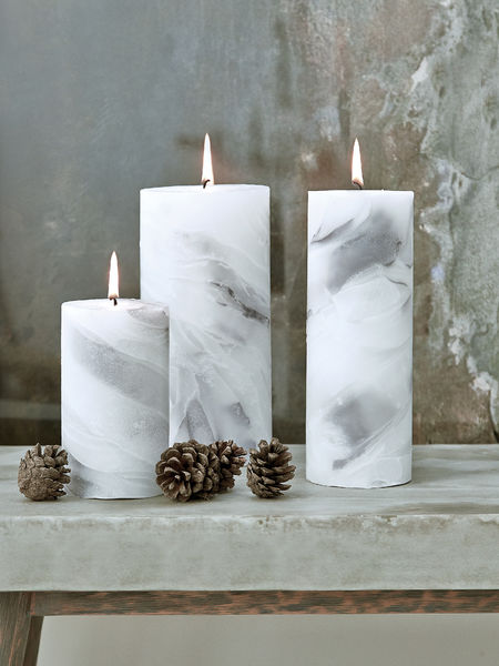 Marbled Pillar Candles  Marble Pillar Candles