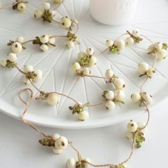 Rugs For Kitchen Disposal Faux Snowberry Garland | Fake Nordic House