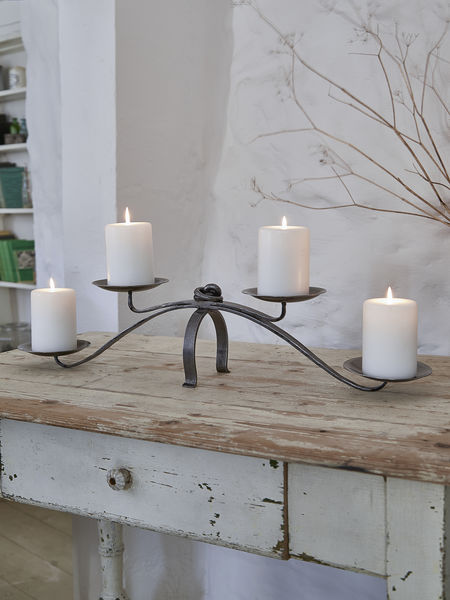Artisan Wrought Iron Candleholder Dining Table Candle Holder