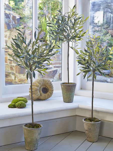 Medium Faux Olive Tree Artificial Olive Trees UK Nordic House
