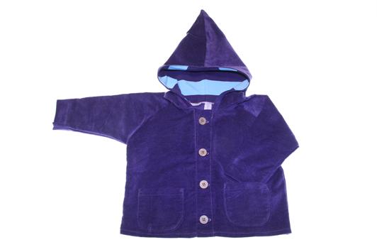 økologisk jakke blue blue farvet