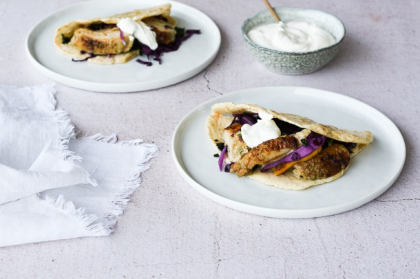 Chicken Wraps with Greek Yogurt
