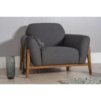 Scandinavian furniture | Scandi Sofa | Milo Armchair Dark Grey