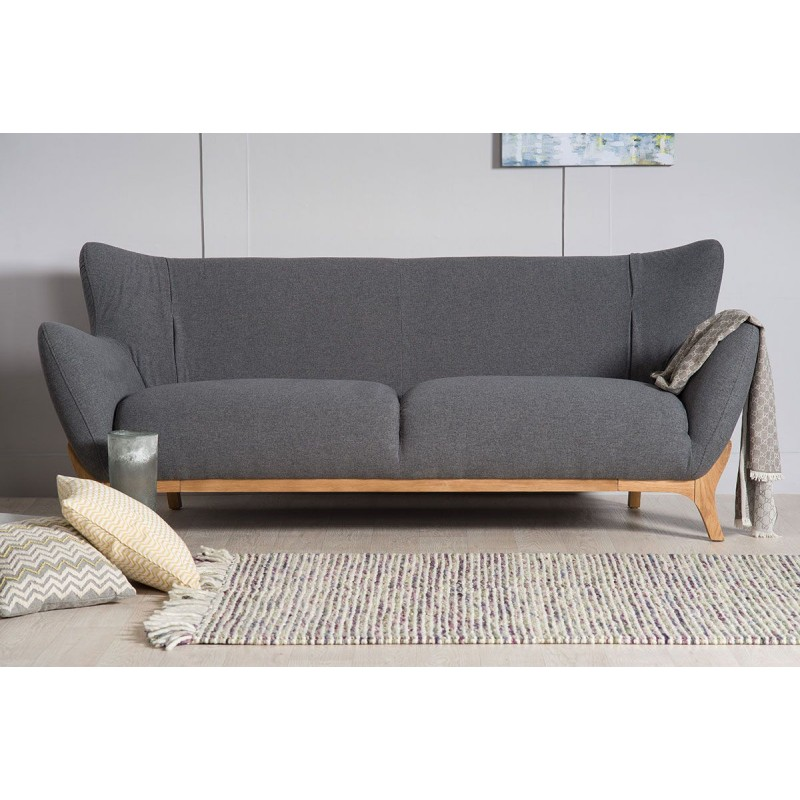 wesley sofa clearance outlet manchester scandinavian furniture 3 seater dark grey