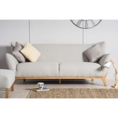 Wesley Sofa Luxury Brands In India Scandinavian Style Furniture 3 Seater Light Grey