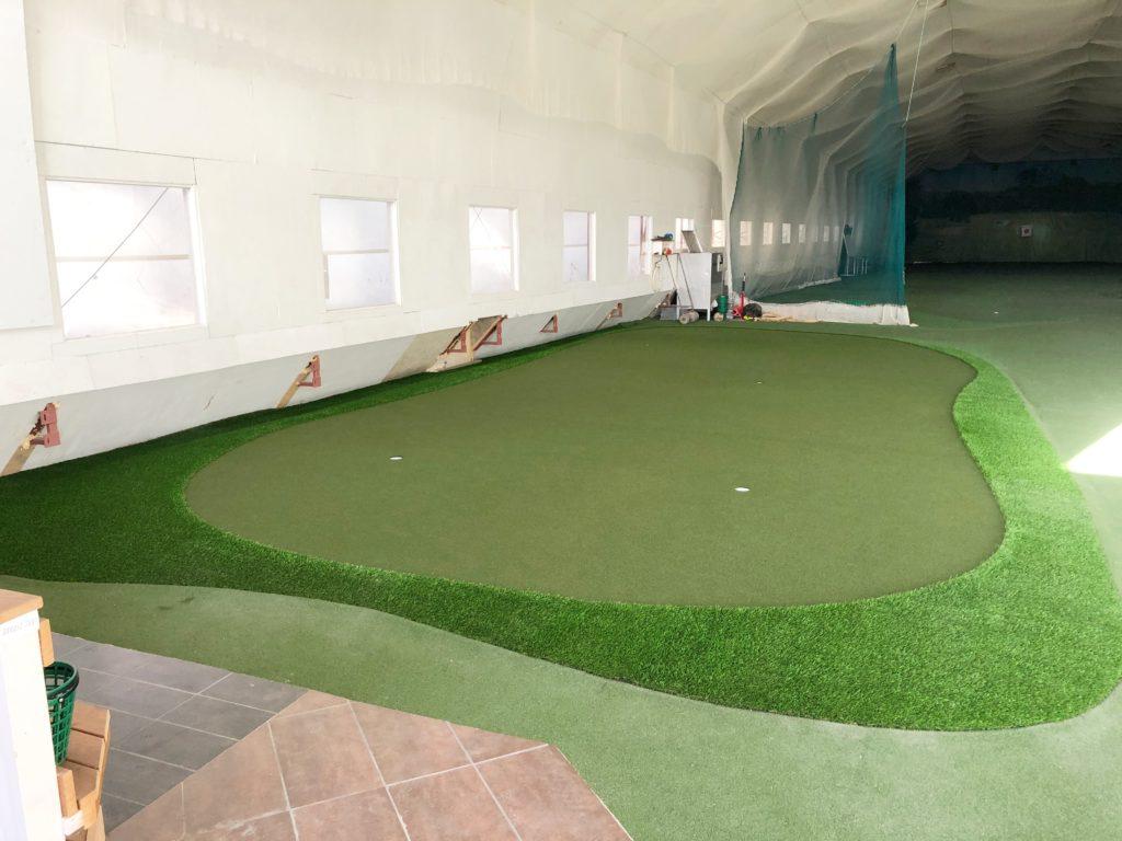 Golf sisähalli tekonurmet