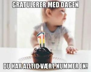 Gratulerer med dagen - du er nummer en-min