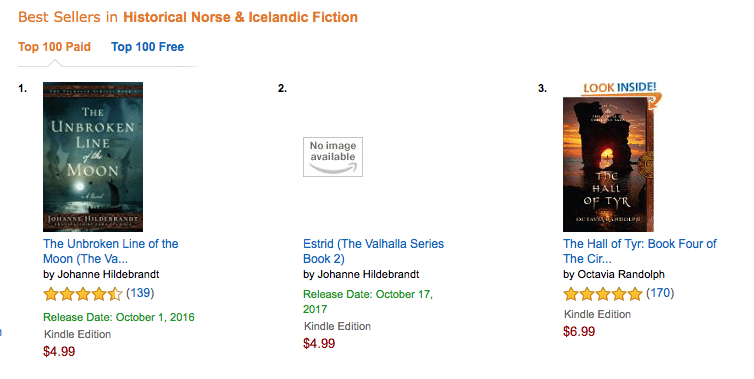 Amazon Best Sellers in Historical Norse & Icelandic Fiction