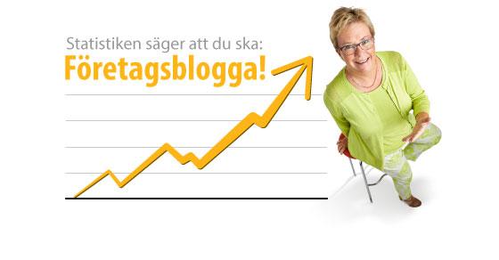 Statistiken säger att du SKA företagsblogga!