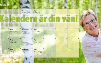 Låt kalendern bli din vän