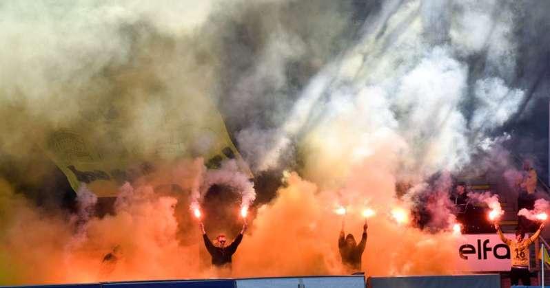 Les supporters de Bodo/Glimt lors du match contre Tromso