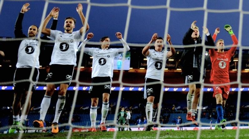 La joie des joueurs de Rosenborg